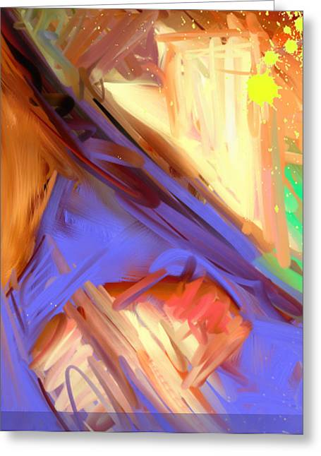 Abstract 4 Greeting Card by Snake Jagger