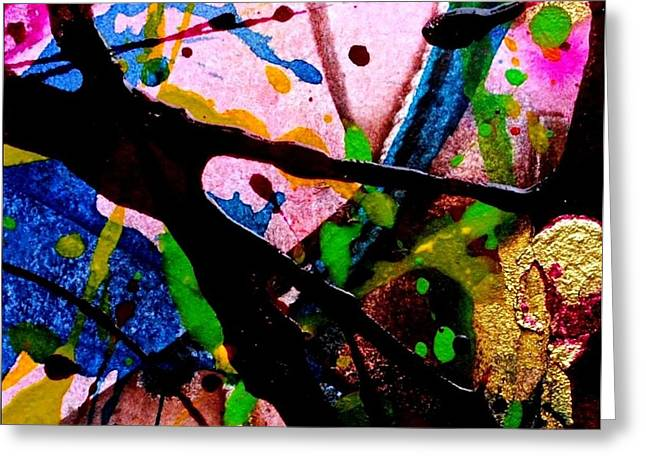 Expressionism Mixed Media Greeting Cards - Abstract 48 Greeting Card by John  Nolan