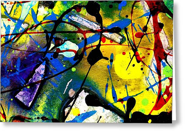 Landscape Framed Prints Mixed Media Greeting Cards - Abstract 55 Greeting Card by John  Nolan