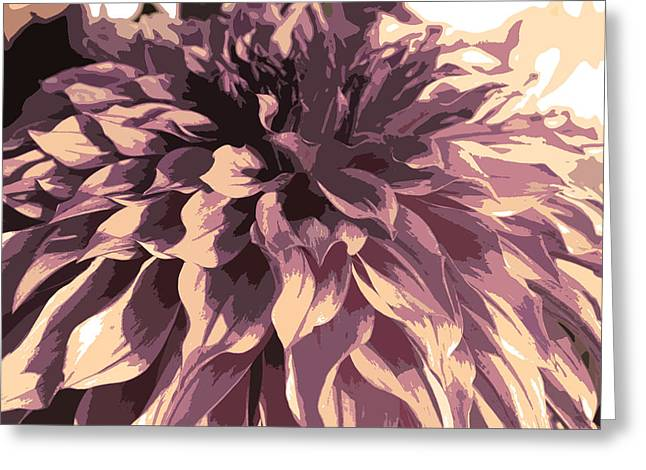Violet Greeting Cards - Abstract 6 Greeting Card by Sumit Mehndiratta