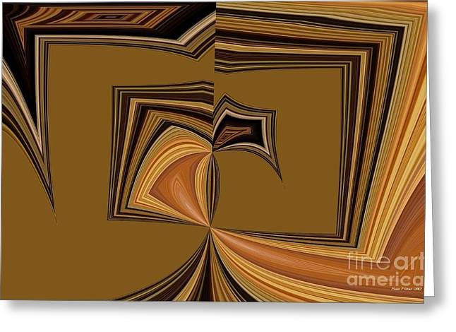Beige Abstract Greeting Cards - Abstract 63 Greeting Card by Maria Urso