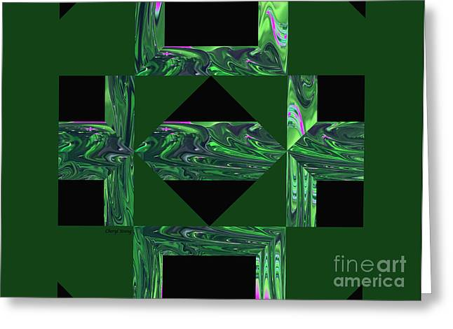 Modern Digital Art Digital Art Greeting Cards - Abstract 709 Greeting Card by Cheryl Young