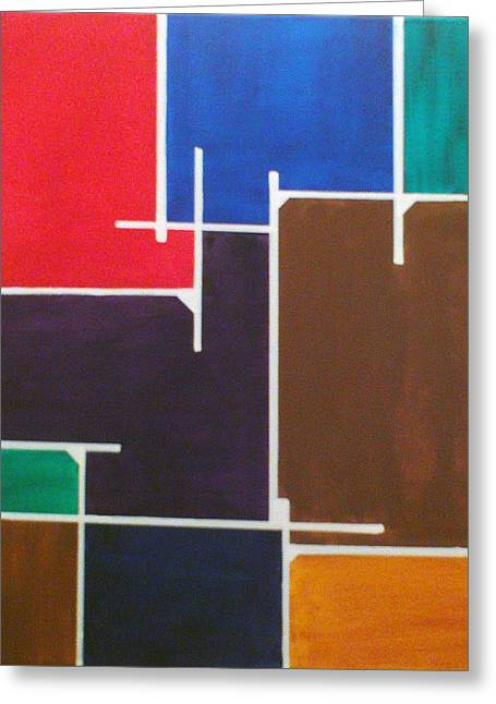 Instructions Paintings Greeting Cards - Abstract 99 Greeting Card by Manfred Schaefer