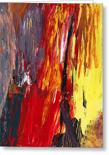 Fashion Abstraction Greeting Cards - Abstract - Acrylic - Rising power Greeting Card by Mike Savad