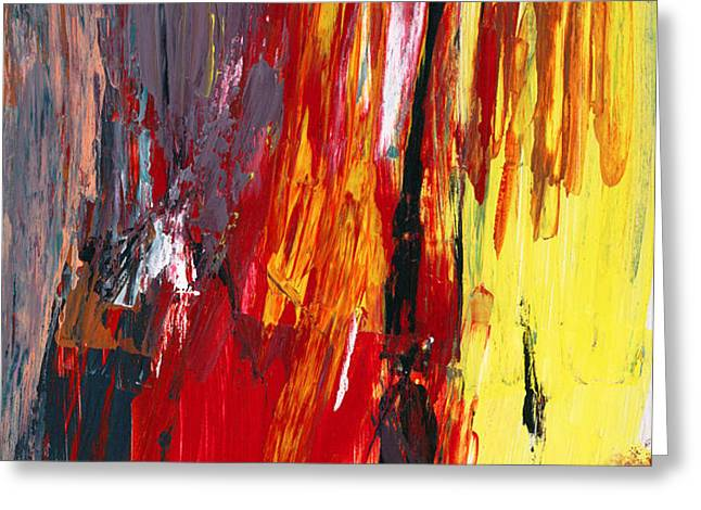 Abstract - Acrylic - Rising power Greeting Card by Mike Savad