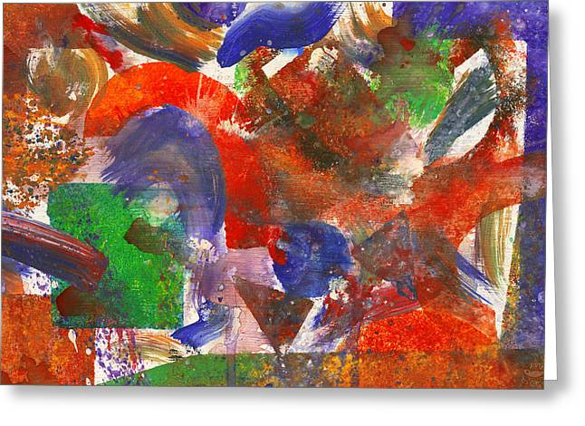 Fashion Abstraction Greeting Cards - Abstract - Acrylic - Synthesis Greeting Card by Mike Savad