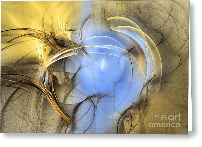 Abstract Art - Eden Greeting Card by Abstract art prints by Sipo