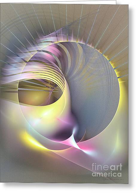 Abstract Art - Futura Greeting Card by Abstract art prints by Sipo