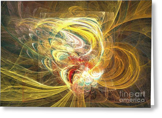 Interior Still Life Mixed Media Greeting Cards - Abstract art - In full bloom Greeting Card by Abstract art prints by Sipo