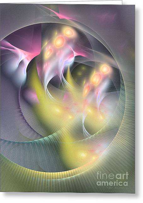 Interior Still Life Mixed Media Greeting Cards - Abstract art - Memoria futurorum Greeting Card by Abstract art prints by Sipo