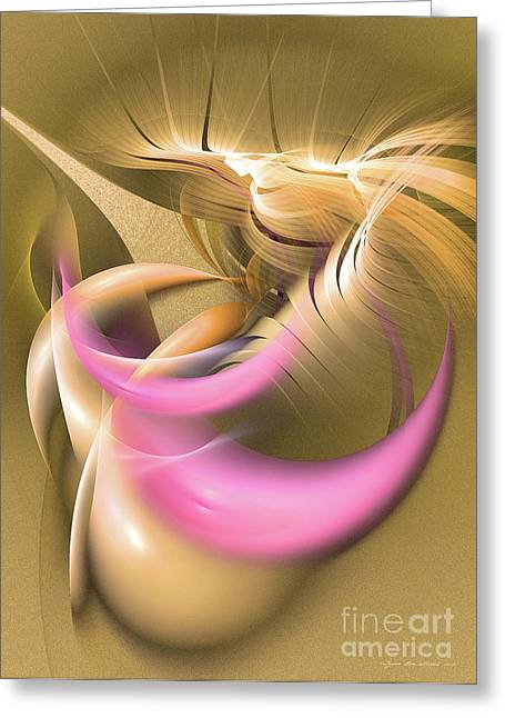Abstract Art - Oasis Greeting Card by Abstract art prints by Sipo