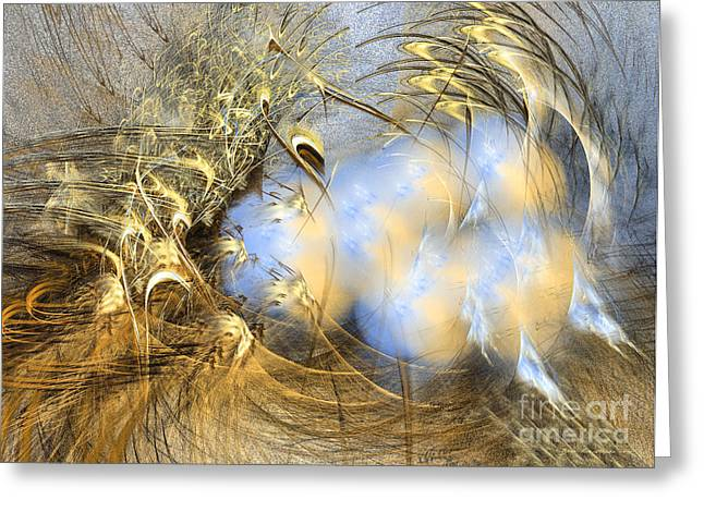 Abstract Art - Seeds Of Peace Greeting Card by Abstract art prints by Sipo