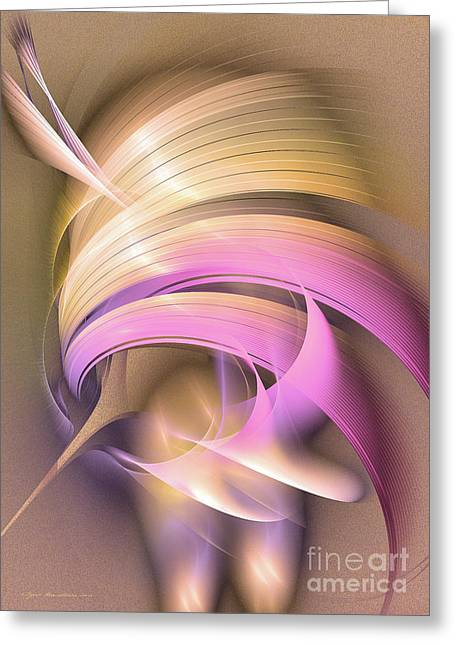 Abstract Art - Tempus Rex Greeting Card by Abstract art prints by Sipo