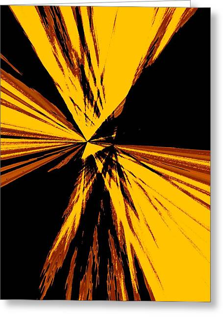 Gradient Greeting Cards - Abstract Art in Brown and Yellow Greeting Card by Mario  Perez