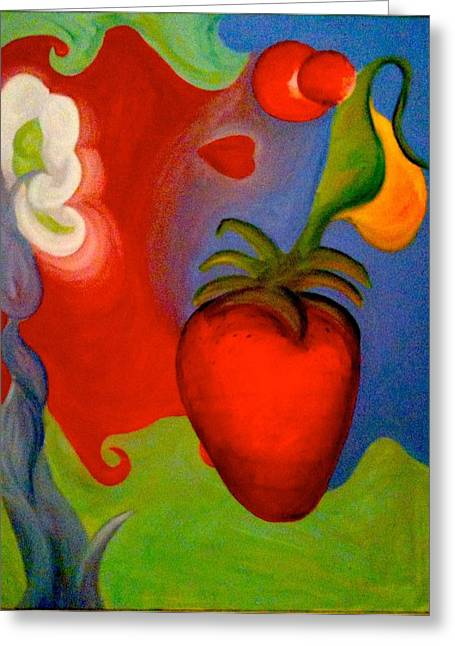 Bloat Greeting Cards - Abstract Art Greeting Card by Katie Victoria Tolley