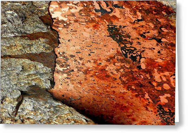 Rusted Cars Greeting Cards - Abstract Art - The Breakdown Greeting Card by Karyn Robinson