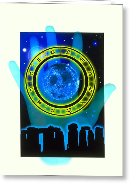 Fortune-telling Greeting Cards - Abstract Artwork Of Fortune Telling Greeting Card by Victor Habbick Visions