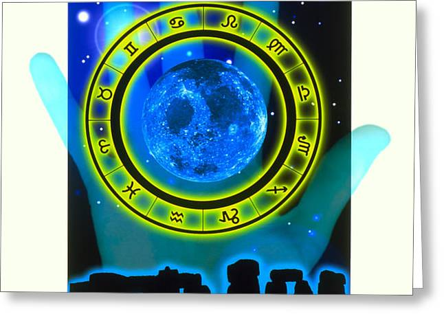 Abstract Artwork Of Fortune Telling Greeting Card by Victor Habbick Visions