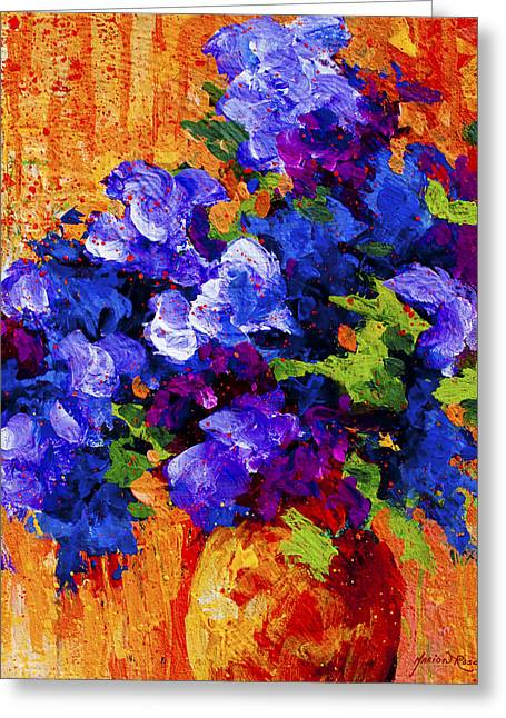 Scenic Greeting Cards - Abstract Boquet 3 Greeting Card by Marion Rose