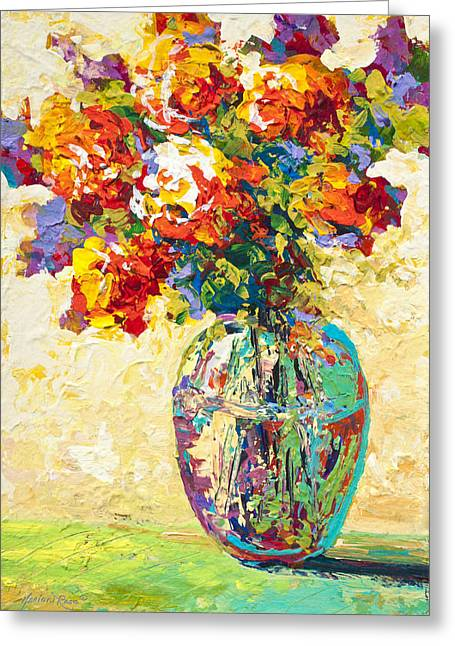 Flowers Greeting Cards - Abstract Boquet IV Greeting Card by Marion Rose