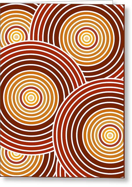 Psychedelia Greeting Cards - Abstract Circles Greeting Card by Frank Tschakert