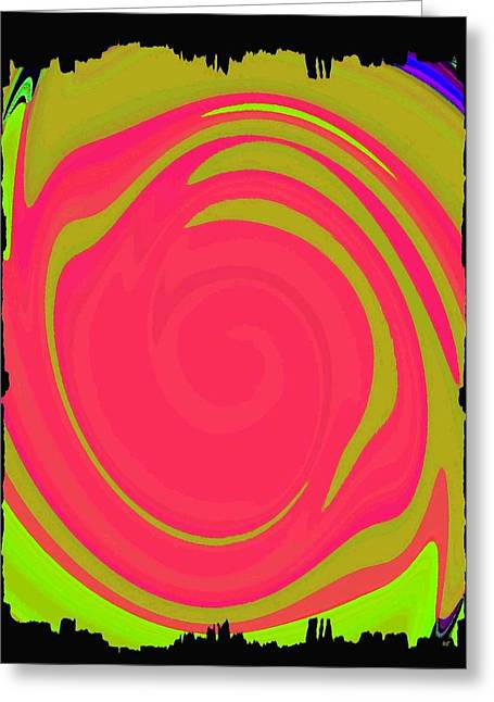 Mingle Greeting Cards - Abstract Color Merge Greeting Card by Will Borden