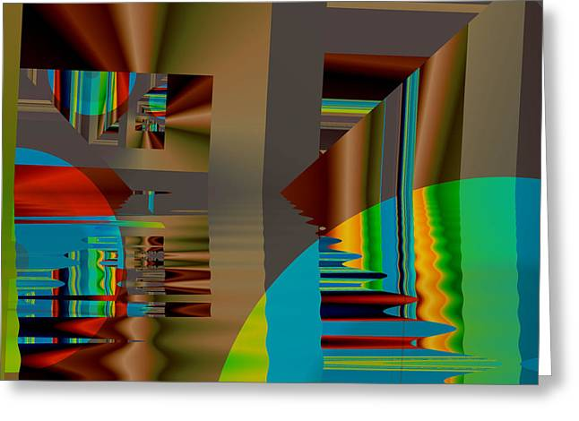 Abstract Colors Greeting Card by Mario Carini