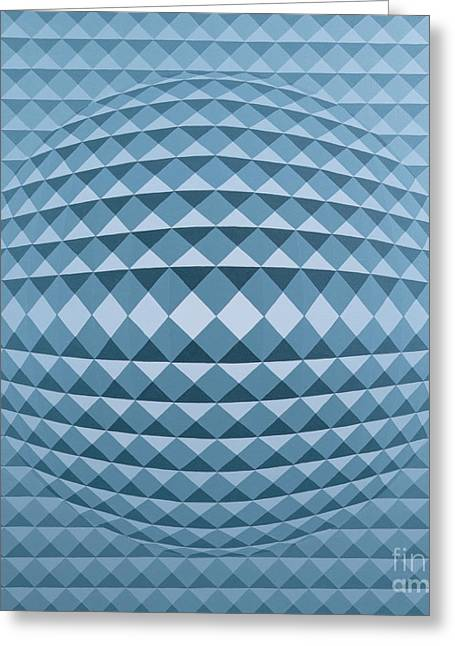 Op Art Greeting Cards - Abstract Composition Greeting Card by Peter Szumowski