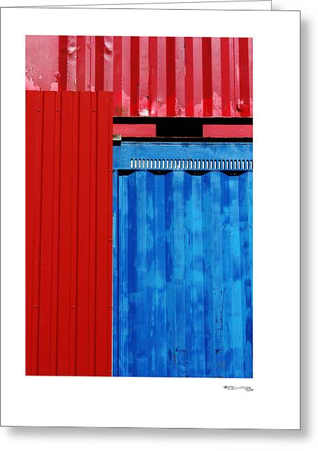 Xoanxo Cespon Photographs Greeting Cards - Abstract Construction Greeting Card by Xoanxo Cespon