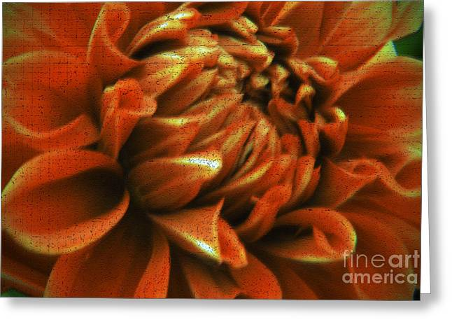 Abtract Greeting Cards - Abstract Dahlia Greeting Card by Karen Lewis