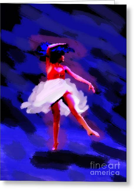 Val Armstrong Greeting Cards - Abstract Dancer Greeting Card by Val Armstrong