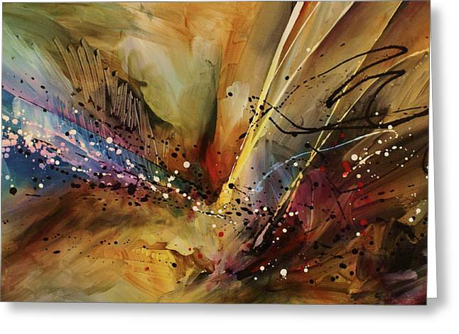 Impacting Paintings Greeting Cards - Abstract design 108 Greeting Card by Michael Lang