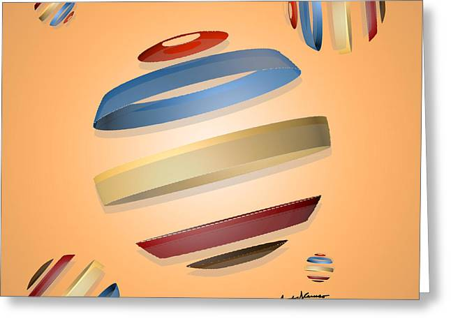 Abstract Design 9 Greeting Card by Anthony Caruso