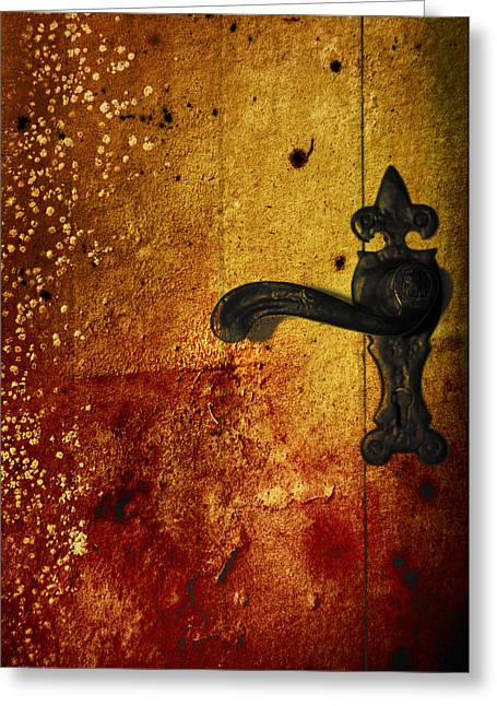 Mystic Art Greeting Cards - Abstract Door Greeting Card by Svetlana Sewell