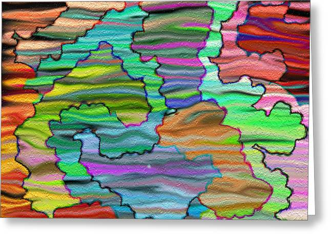 Gleem Greeting Cards - Abstract Emotions  Greeting Card by Gina Lee Manley