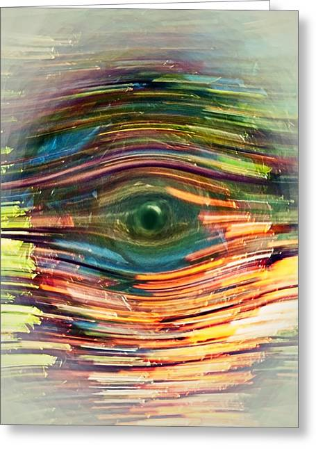 Susan Leggett Greeting Cards - Abstract Eye Greeting Card by Susan Leggett