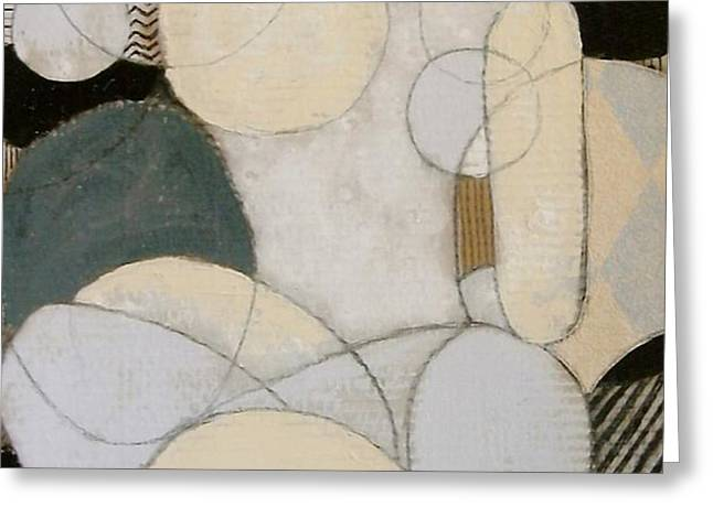 abstract female back  Greeting Card by Joanne Claxton
