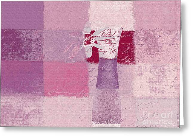 Pink Digital Art Greeting Cards - Abstract Floral - 11v3t09 Greeting Card by Variance Collections