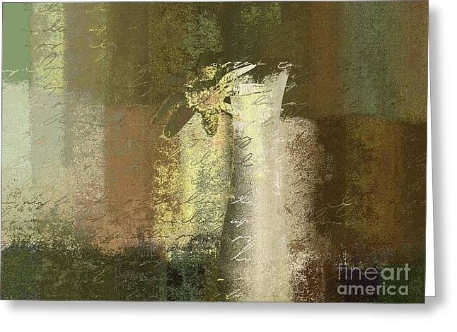 Flower Still Life Greeting Cards - Abstract Floral 04v2g Greeting Card by Variance Collections
