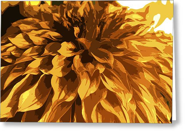 Abstract Flowers 14 Greeting Card by Sumit Mehndiratta