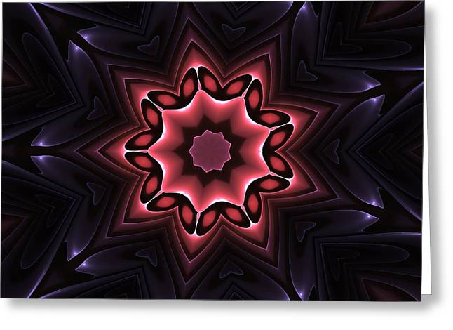 Fractal Flower Greeting Cards - Abstract Fractals Flower Greeting Card by Stefan Kuhn