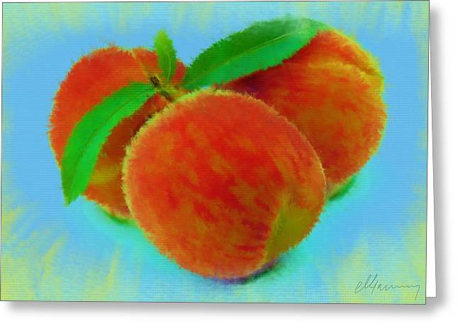 Haugesund Greeting Cards - Abstract Fruit Painting Greeting Card by Michael Greenaway