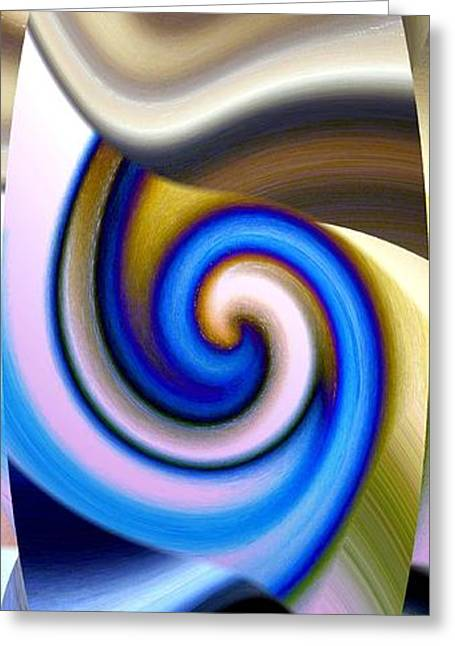 Abstract Digital Digital Greeting Cards - Abstract Fusion 114 Greeting Card by Will Borden