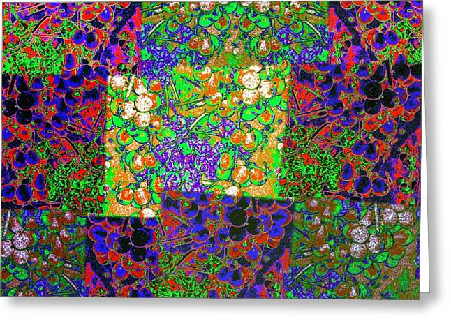 Grape Vineyard Digital Greeting Cards - Abstract Fusion 13 Greeting Card by Will Borden