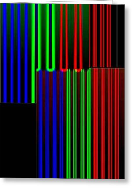 Abstract Digital Digital Greeting Cards - Abstract Fusion 135 Greeting Card by Will Borden