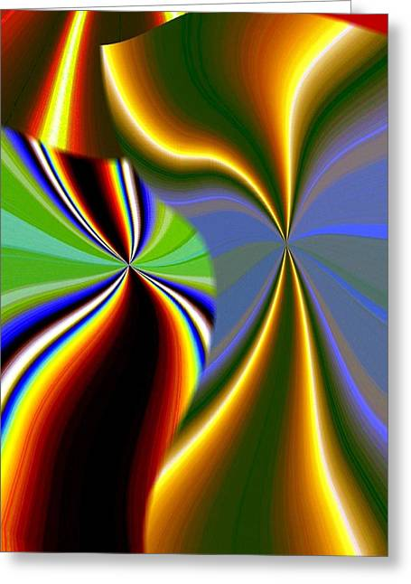 Abstract Fusion 52 Greeting Card by Will Borden