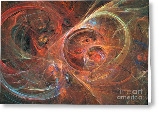 Interior Still Life Mixed Media Greeting Cards - Abstract galaxy - abstract art Greeting Card by Abstract art prints by Sipo