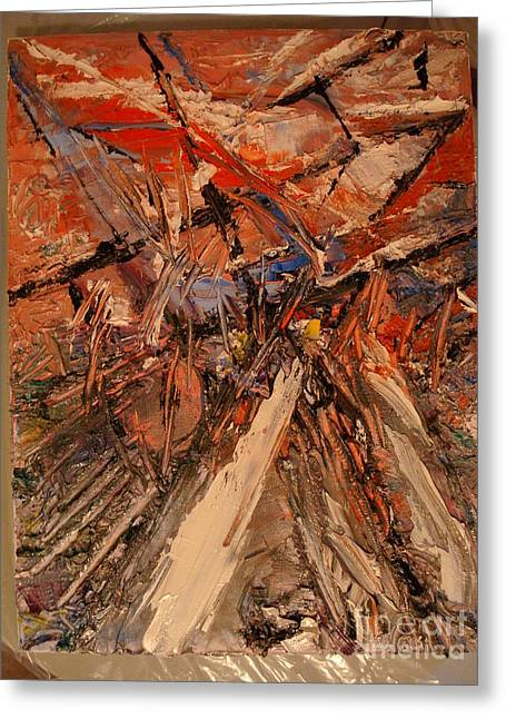 Abstract Reliefs Greeting Cards - Abstract Greeting Card by Geoffrey  Mann
