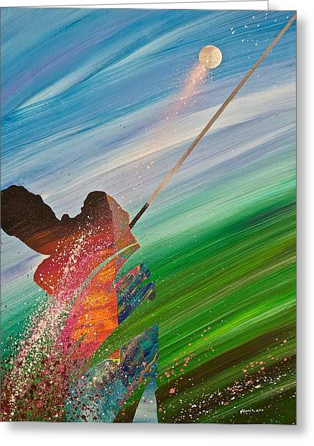 Ventura Greeting Cards - Abstract Golf Greeting Card by Douglas Fincham