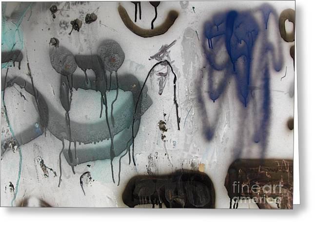 Jordan Wall Art Greeting Cards - Abstract Graffiti Greeting Card by Jeannie Atwater Jordan Allen
